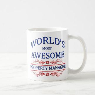 World's Most Awesome Property Manager Basic White Mug