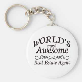 World's Most Awesome Real Estate Agent Key Ring