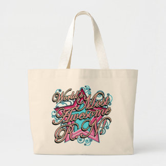 Worlds Most Awesome RN Large Tote Bag