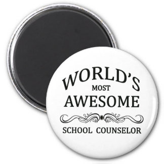 World's Most Awesome School Counselor 6 Cm Round Magnet
