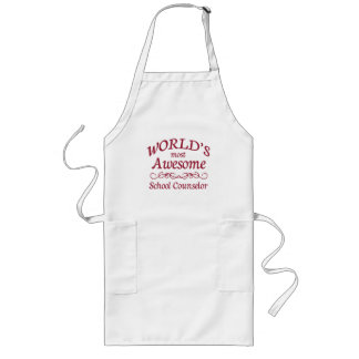 World's Most Awesome School Counselor Long Apron