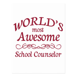 World's Most Awesome School Counselor Postcard