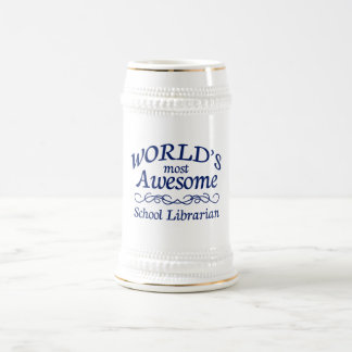 World's Most Awesome School Librarian Beer Stein