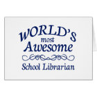 World's Most Awesome School Librarian Card