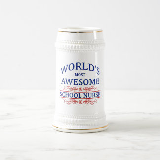 World's Most Awesome School Nurse Beer Steins