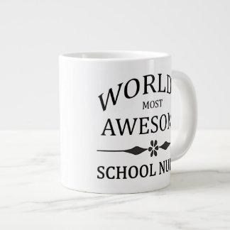 World's Most Awesome School Nurse Jumbo Mug
