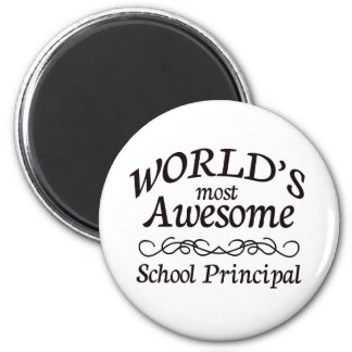 World's Most Awesome School Principal 6 Cm Round Magnet
