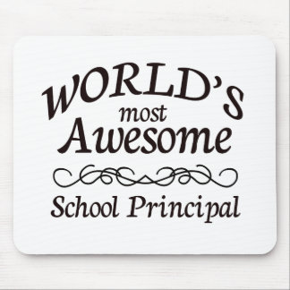 World's Most Awesome School Principal Mouse Mat