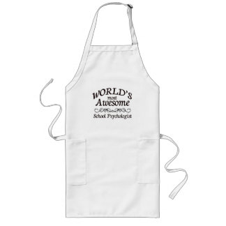 World's Most Awesome School Psychologist Aprons