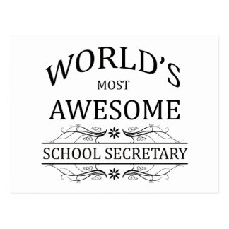 World's Most Awesome School Secretary Postcard
