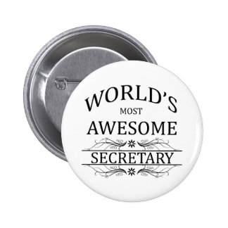 World's Most Awesome Secretary 6 Cm Round Badge