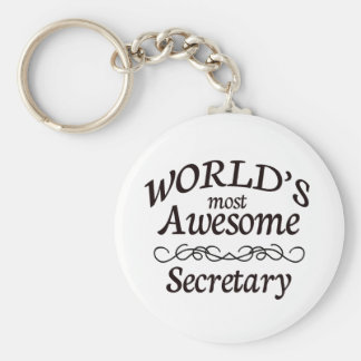 World's Most Awesome Secretary Key Ring