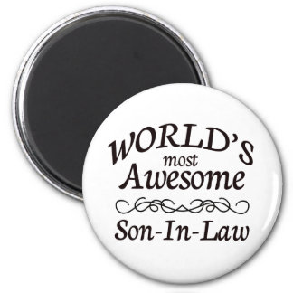 World's Most Awesome Son-In-Law 6 Cm Round Magnet