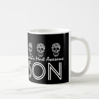 World's Most Awesome SON Zebra Skulls V04 Coffee Mug