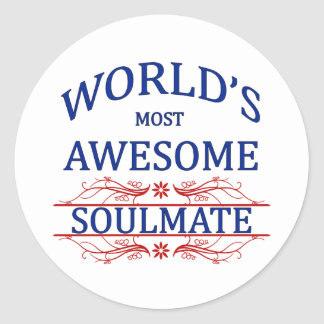 World's Most Awesome Soul Mate Sticker