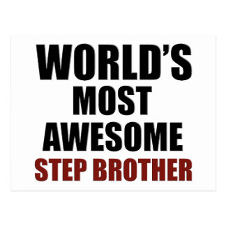 World's most awesome Step Brother Postcard