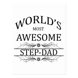 World's Most Awesome Step-Dad Postcard