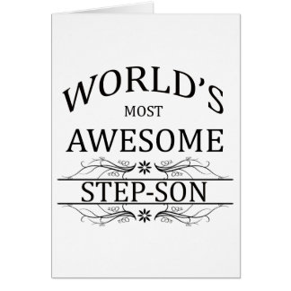 World's Most Awesome Step-Son Greeting Card