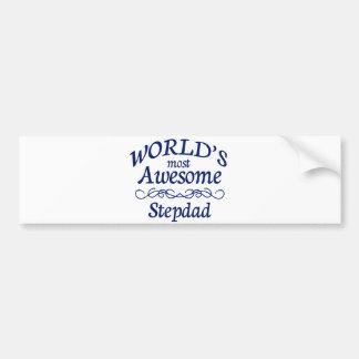 World's Most Awesome Stepdad Bumper Sticker
