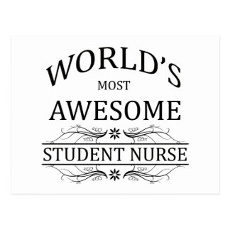 World's Most Awesome Student Nurse Postcard