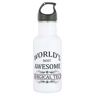 World's Most Awesome Surgical Tech 532 Ml Water Bottle