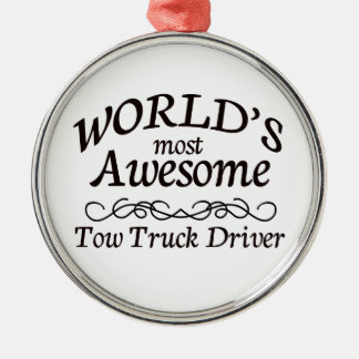 World's Most Awesome Tow Truck Driver Christmas Ornament