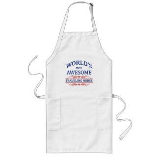 World's Most Awesome Traveling Nurse Long Apron