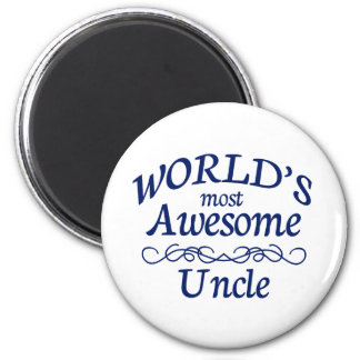 World's Most Awesome Uncle 6 Cm Round Magnet