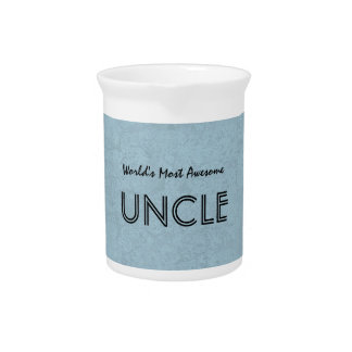 World's Most Awesome UNCLE Blue Grunge Pitcher