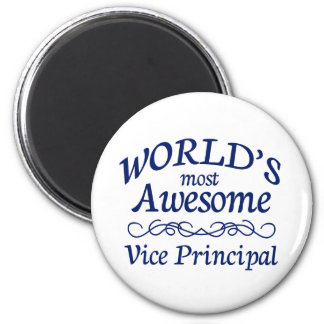 World's Most Awesome Vice Principal 6 Cm Round Magnet