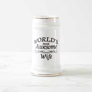 World's Most Awesome Wife Beer Stein