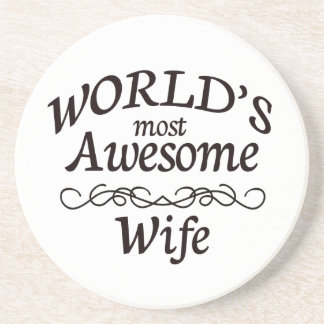 World's Most Awesome Wife Coaster