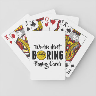 Worlds Most Boring Funny Emoji Novelty Playing Cards