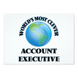 """World's Most Clever Account Executive 5"""" X 7"""" Invitation Card"""