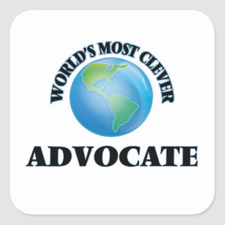 World's Most Clever Advocate Square Stickers