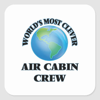 World's Most Clever Air Cabin Crew Square Sticker