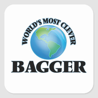 World's Most Clever Bagger Square Sticker