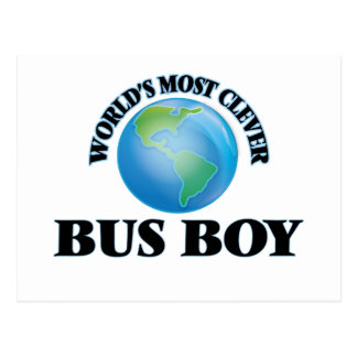 World's Most Clever Bus Boy Post Cards