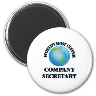 World's Most Clever Company Secretary 6 Cm Round Magnet