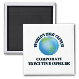 World's Most Clever Corporate Executive Officer Refrigerator Magnet