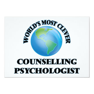 World's Most Clever Counselling Psychologist 5x7 Paper Invitation Card