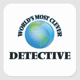 World's Most Clever Detective Square Sticker