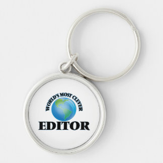 World's Most Clever Editor Keychain
