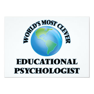 World's Most Clever Educational Psychologist 5x7 Paper Invitation Card