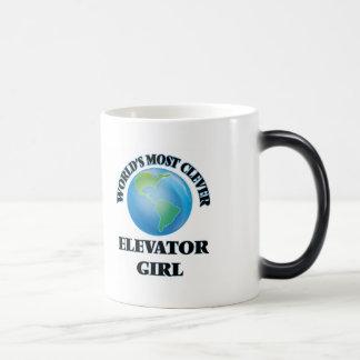 World's Most Clever Elevator Girl Coffee Mug