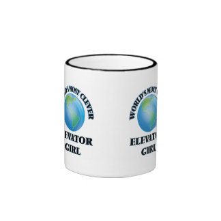 World's Most Clever Elevator Girl Mugs