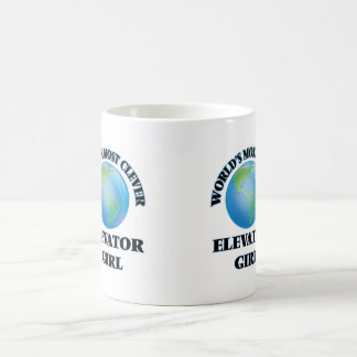 World's Most Clever Elevator Girl Coffee Mugs