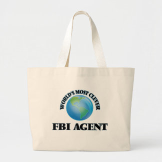 World's Most Clever Fbi Agent Jumbo Tote Bag
