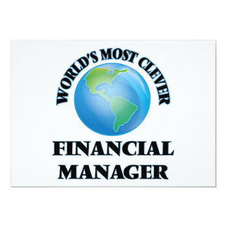 World's Most Clever Financial Manager 5x7 Paper Invitation Card
