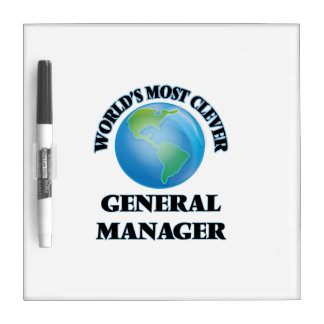 World's Most Clever General Manager Dry-Erase Boards